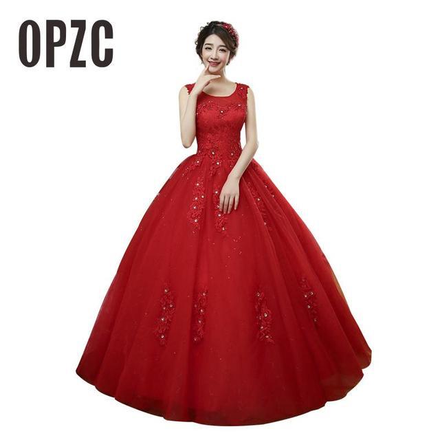 47 63 12 De Reduction Personnalise 2016 Nouvelle Mode Blanc Et Rouge Princesse Douce Robe De Mariee Vintage Doux Bretelles Fil Bouffee Robe De