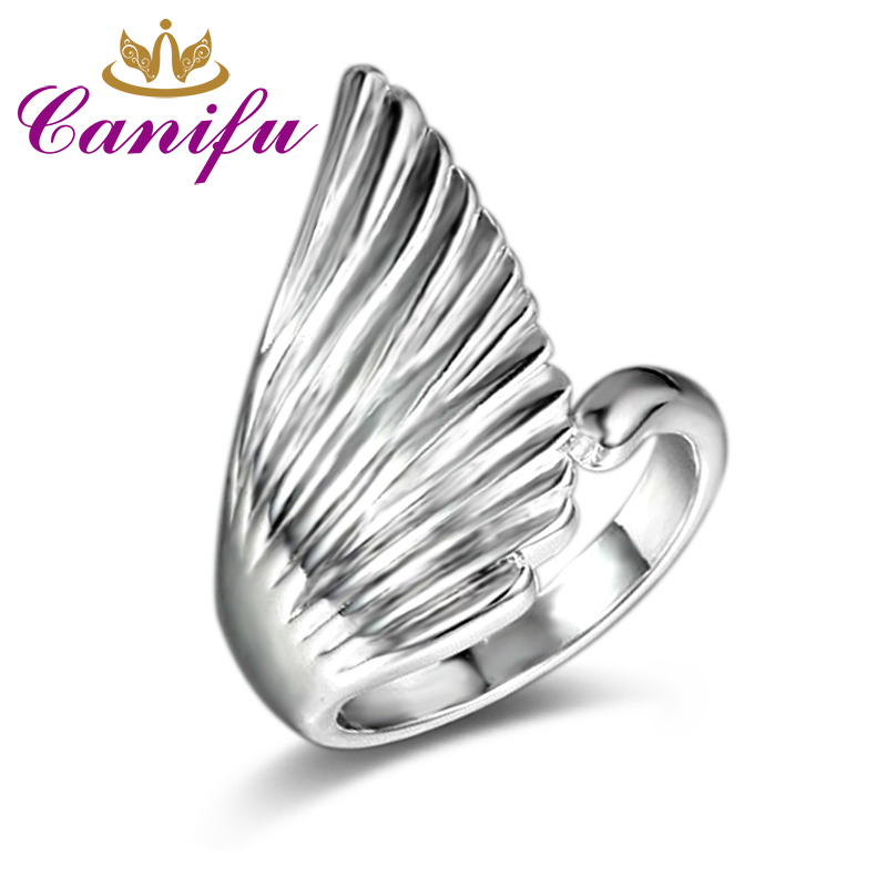 Canifu New arrival Unique Design Angel Wings Ring With Fashion Noble Party Open Ring for Girl