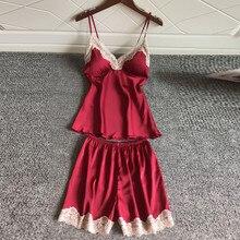 Сексуальное женское белье Для женщин пижамы без рукавов, на лямках, одежда для сна с кружевной отделкой Атласный топ на бретельках комплект детского нижнего белья новые ночные рубашки для девочек, одежда для сна, 3,94