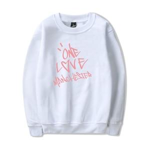 Image 4 - Nieuwe ONE LOVE MANCHESTER mode hip hop Mannen Vrouwen Hoodies capless Sweatshirts Lange Mouw o hals Sweatshirt Hoodie Trui Tops