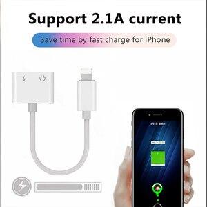 Image 5 - ! ACCEZZ 2 in 1 Beleuchtung Ladegerät Hören Adapter Für iphone X 7 Lade Adapter 3,5mm Jack AUX Splitter adaptador für iphone