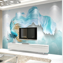 3D Waterproof Wallpaper Abstract Blue Peacock
