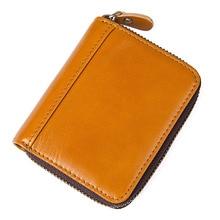 Vintage Zipper Womens Red Short Wallet Card Id Holders 2018Women bag Women Clutch Small Coin Purse Female Money Bag