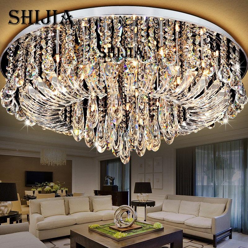 US $230.93 30% OFF|Led deckenleuchte Für Wohnzimmer Oberfläche Montiert  Kristall Abajur Deckenleuchten Kristall Lampe Decke AC110V 220 V 240 V in  ...