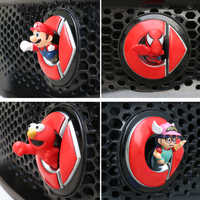 3D car cartoon spiderman model toy sticker for Mercedes new smart forfour fortwo 453 451 450 LOGO decorative doll accessories