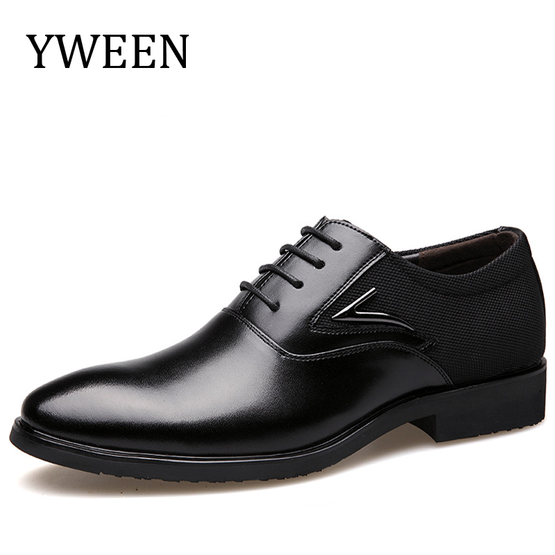 YWEEN Men Dress Shoes, Lace-Up High Quality Oxford Shoes For Men, Fashion Men Business Shoes size eur38-eur48