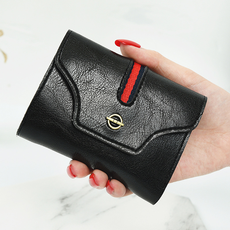 Simple Short Womens Wallet PU Leather Trifold Wallet Females Coin Purses Candy Ladies Purse Girl's Cool Card Holders Wallets 10# molave wallets wallet female solid coin purse pu leather women simple retro letters short wallet coin purse card holders feb8