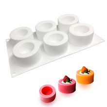 French dessert silicone 6 pudding cup mousse cake mold DIY baking hurricane Silicone Moulds small tools