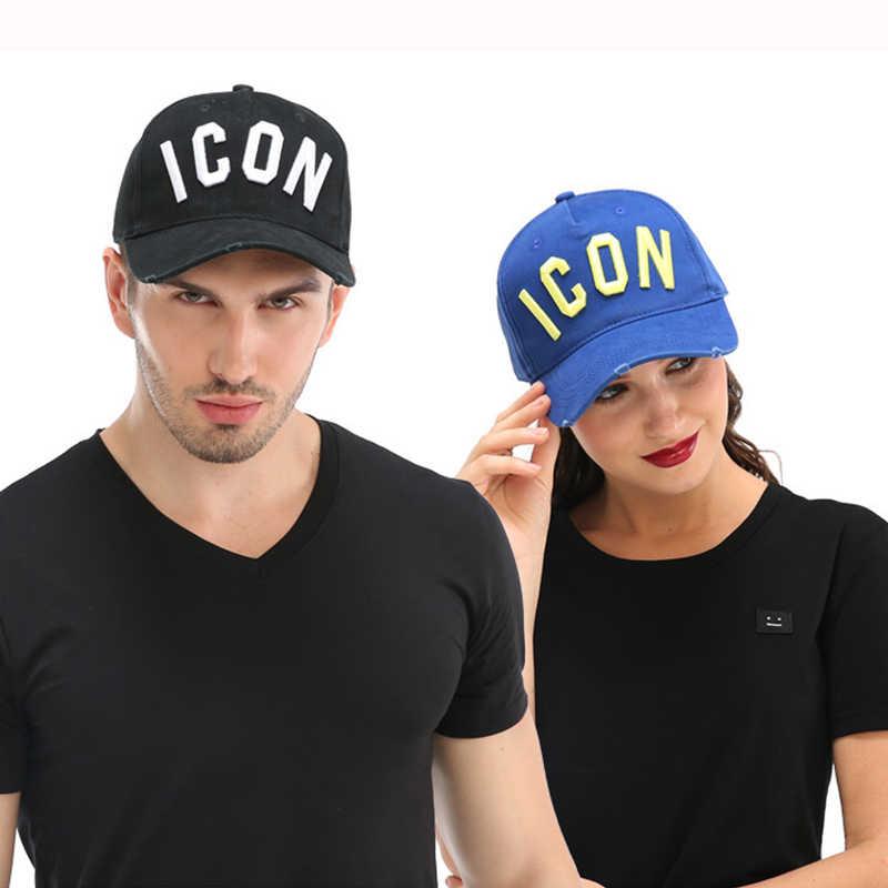 DSQICOND2 Commercio All'ingrosso Cotone Cappellini Da Baseball Icona Logo DSQ LETTERE di Alta Qualità Uomini Della Protezione Delle Donne Disegno del Cliente Del Cappello Nero Papà Cappelli