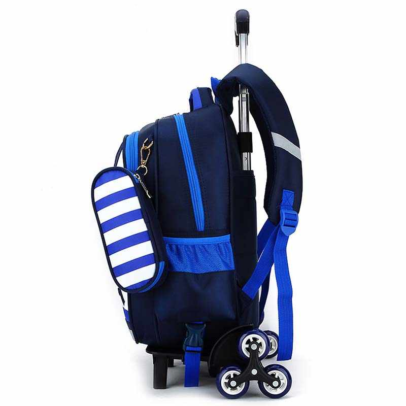 BAIJIAWEI Personality Clothing Backpack Removable Children Trolley Bags 6-15 Years Kids School Backpack Travel Bags