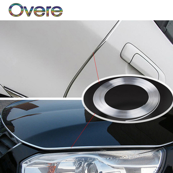 Overe 3M Car Interior Mouldings Chrome Strip DIY For BMW E60 E36 E46 E90 E39 E30 F30 F10 F20 X5 E53 E70 E87 E34 1.E92 M image