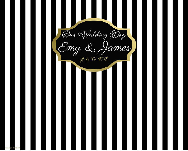 Custom Black And White Striped Frame Backdrop High Quality Computer