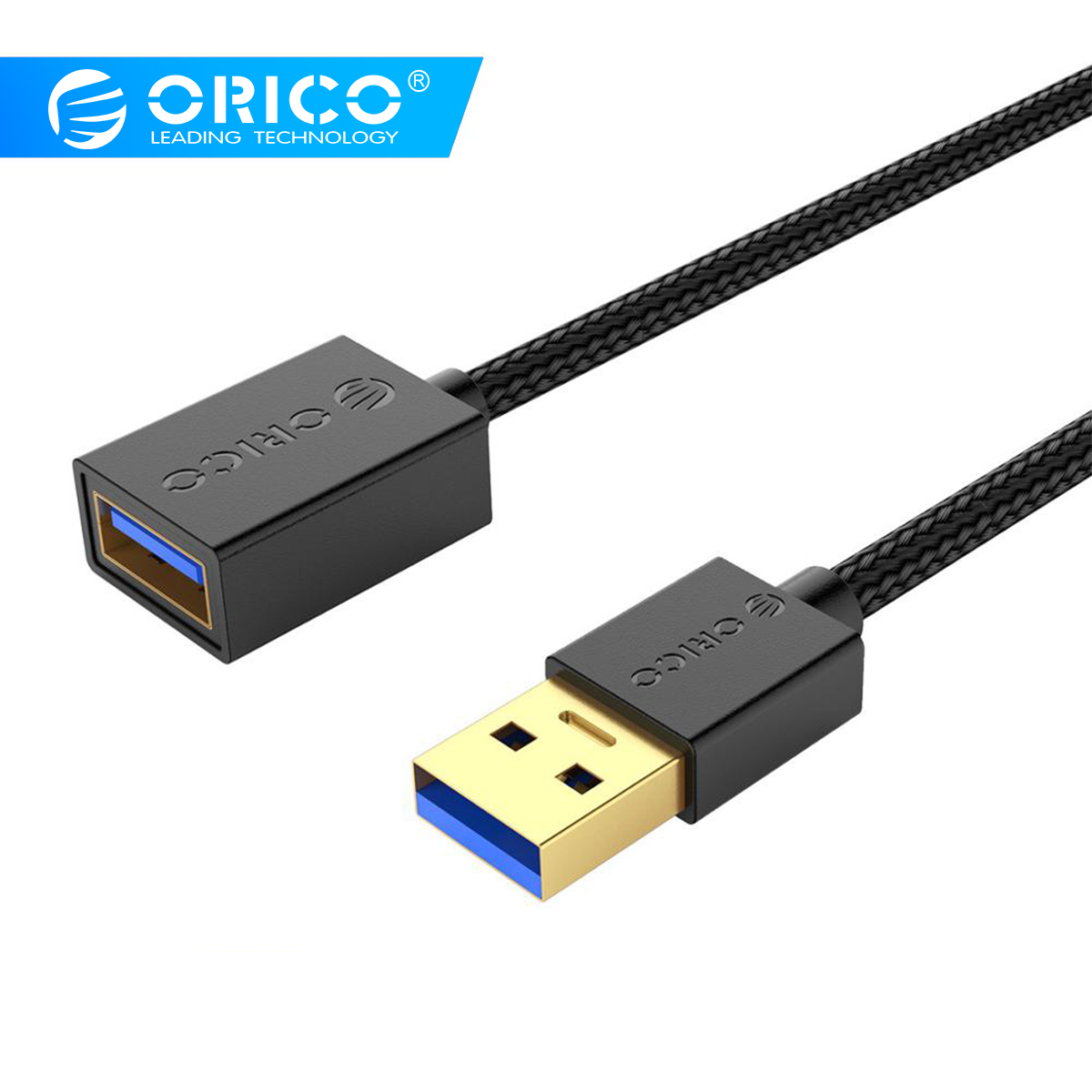 ORICO USB Extension Cable USB 3.0 USB2.0 Cable for Smart TV PS4 Xbox One SSD USB3.0 2.0 Type-A Extender USB Extension Cable image