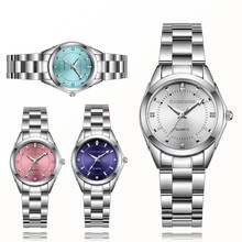Chronos Vrouwen Luxe Rhinestone Rvs Quartz Horloges Dames Business Horloge Japanse Quartz Relogio Feminino(China)