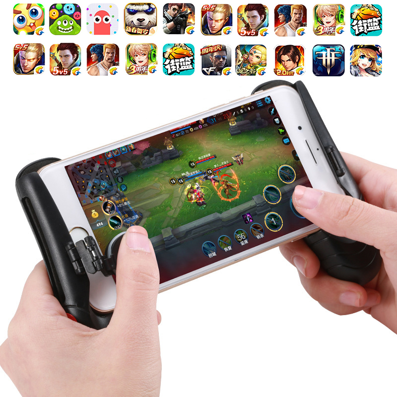 Game Joystick Grip Extended Handle Game Controller Mobile Phone Joystick Touch Screen Rocker Gamepad for Smartphones