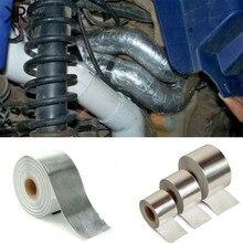 Cool-Tape Roll Exhaust Aluminized Heat Wrap Barrier Motorcycle CAR Motocross ATV UTV