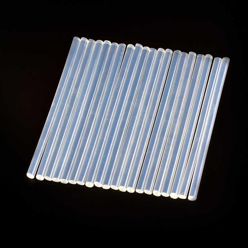 20 個/Sets11mm × 150 ミリメートルホットメルト銃スティックのりプラスチック透明スティックグルーガンのためにホーム電源ツールアクセサリー