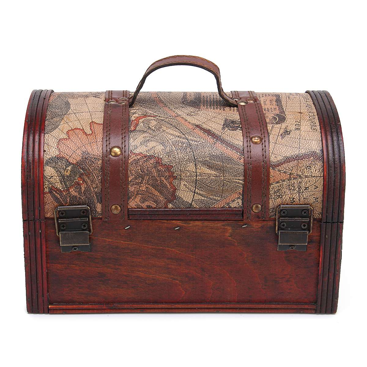 Pirate treasure chest vintage colonial map atlas design storage pirate treasure chest vintage colonial map atlas design storage trunk wedding stylish vintage metal lock chest case woodeen box in storage boxes bins from gumiabroncs Gallery