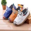 Zapatos de los niños Con los Populares en Europa Zapatos de Los Muchachos del Otoño Invierno de Punto de Dibujos Animados Deporte Niñas Zapatillas de Deporte Zapatos de Los Niños