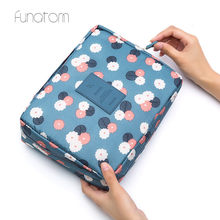 Women Makeup bag Cosmetic Case Make Up Organizer Toiletry Storage Rushed Floral Nylon Zipper New Travel Wash pouch