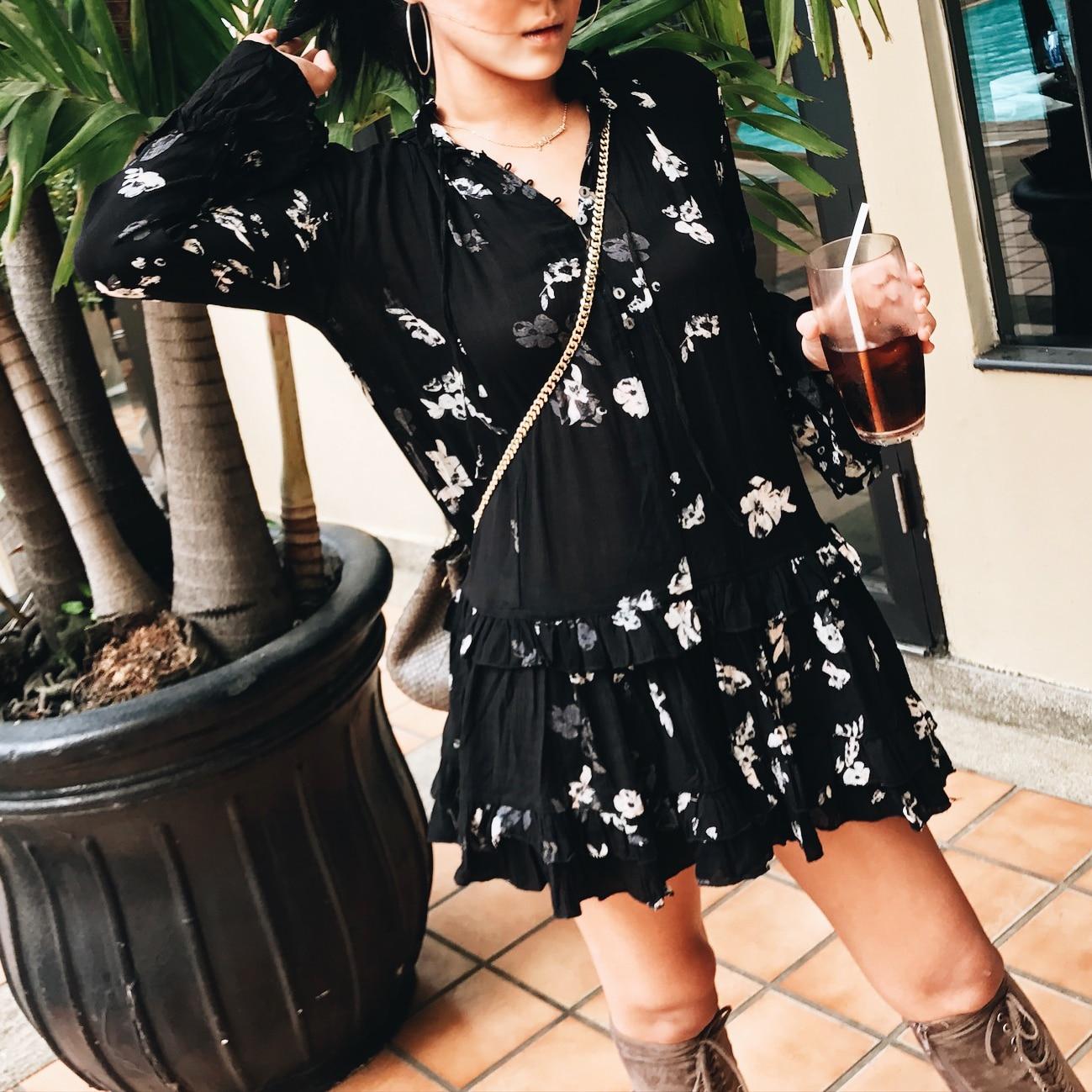 Et Imprimé Fois 2017 À Fiesta Manches Offre Noir Femme Spéciale Vacances Vente Robes De D'été Lâche Longues Robe Bohême 7qpOP