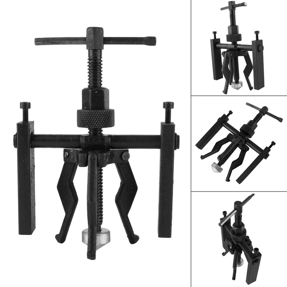 3-Jaw Inner Bearing Puller Gear Extractor Heavy Duty Automotive Machine Tool Kit Size 200x135mm