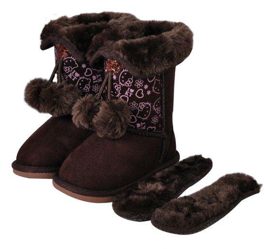 Hot Sale ! Winter Hello Kitty Kid Children Snow Boot Girls