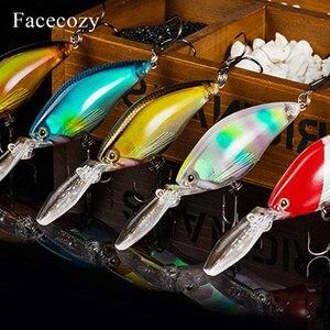 Image 3 - Señuelo luminoso revestido láser Facecozy cebo Artificial Minnow cebo nadador 1 pieza 11cm Señuelos de Pesca Crankbait altamente realista dos anzuelos
