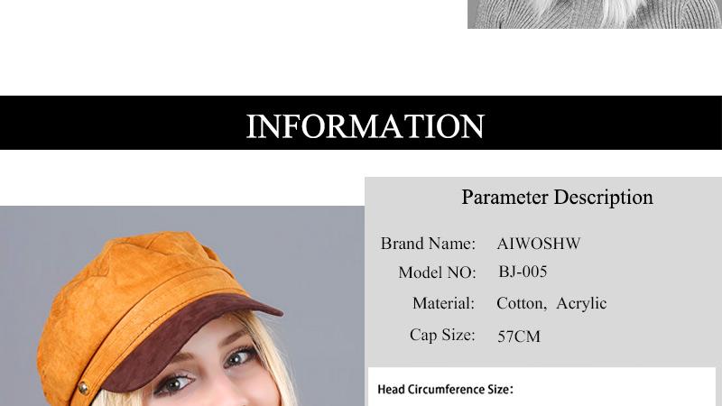 17 Autumn Octagonal Hats Flat Cap For Women Newsboy Beret Hat Female Fashion Metal Button England Style Octagonal Cap 4