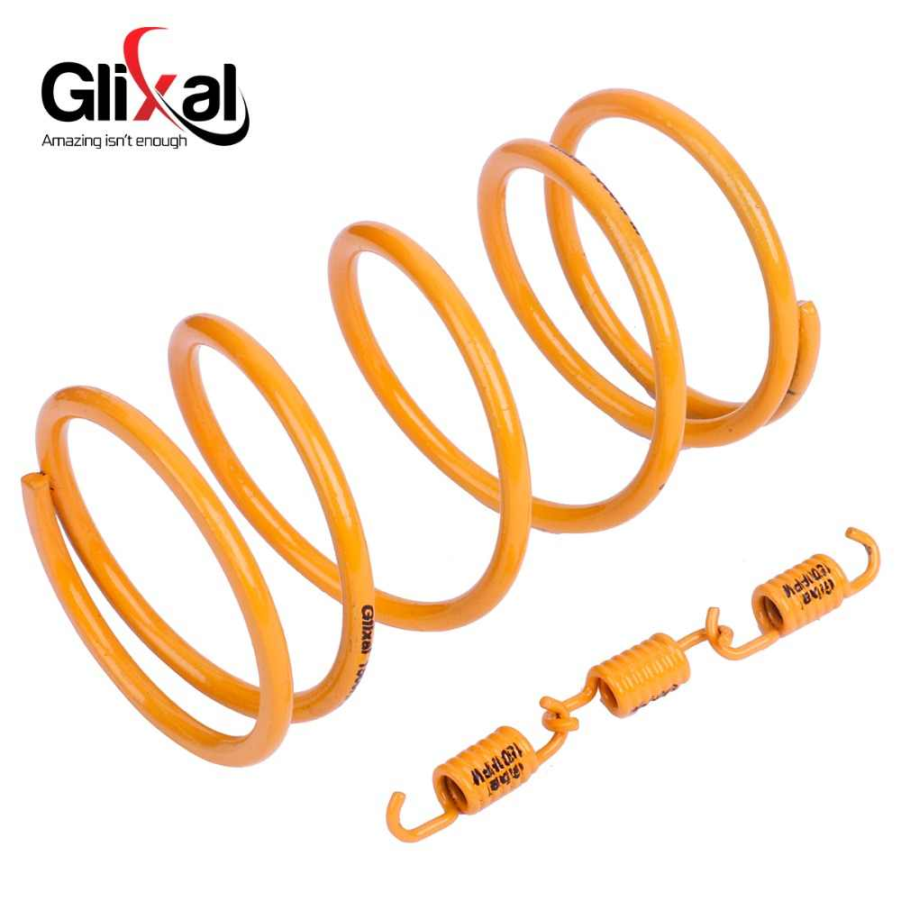 Glixal High Performance Racing Torsi Musim Semi Kopling Springs GY6 50cc-100cc 139QMB 139QMA Skuter ATV Mesin (1500 Rpm, kuning)