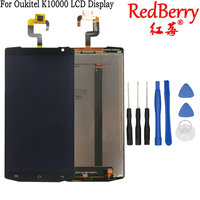 Redberry For Oukitel K10000 LCD Display With Touch Screen Digitizer Assembly Free Shipping Tools