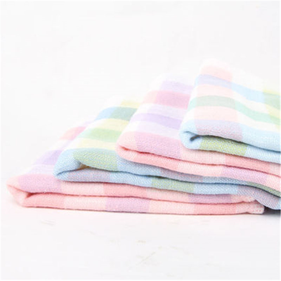 Soft Square Cotton Baby Towel Set Gauze Washcloth 2/6 Pcs Cleaning Supplies Baby Face Towel Feeding Infant 70A0190