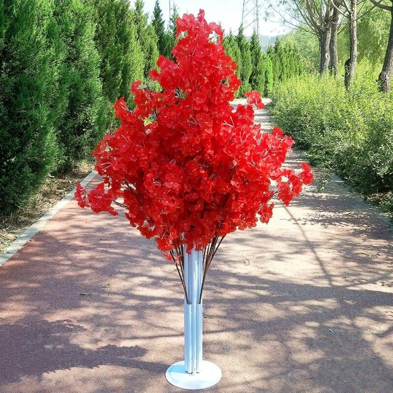 Nueva llegada flores de cerezo árbol camino lleva boda camino pasillo columna centros de compras abierto puerta decoración Stands - 4