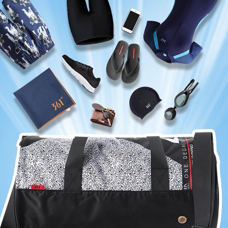 Купить с кэшбэком 361 Sports Bags Gym Handbag waterproof Swimming Shoulder Bag 25L Combo Dry Wet Bag Travel Camping Pool Beach Men Women Children