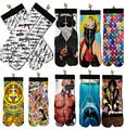 Free shipping Hip hop men/women socks 3d printed 2pac/shark/Marilyn Monroe/Easter eggs Unisex Cotton fashion socks weed socks