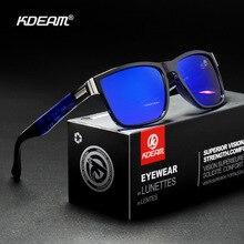 New Polarized Sunglasses Men KDEAM Driving Mens Square Avantgarde Sun Glasses Women Outdoor Fishing eyewear