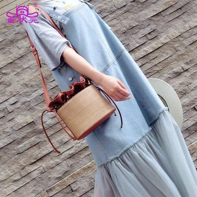 Новинка 2017 года соломенные сумки женские модные сумки Сладкий личности Бангалор сумки
