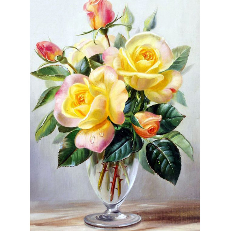 Diamond painting full square round diamond embroidery cross stitch diamond painting full square round diamond embroidery cross stitch glass cup yellow flowers rhinestone mosaic painting decoratio in diamond painting cross mightylinksfo