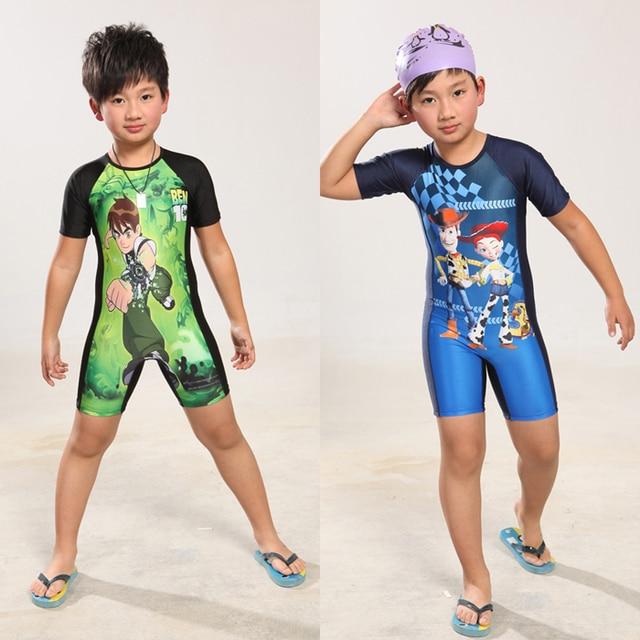 501521ed63e3 € 20.03 |Natación troncos hijo de una pieza del traje de baño para hombre  chico grande niño niños guapos sol la ropa ropa de protección surf en de en  ...
