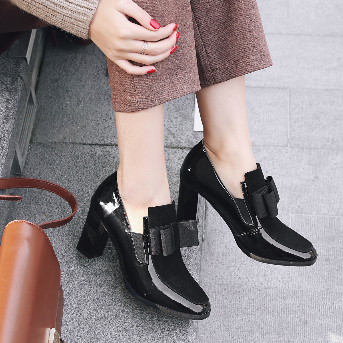 en soldes 3f406 cf69c Femmes En Véritable Talons Chaussures Inférieure Dames Femme ...