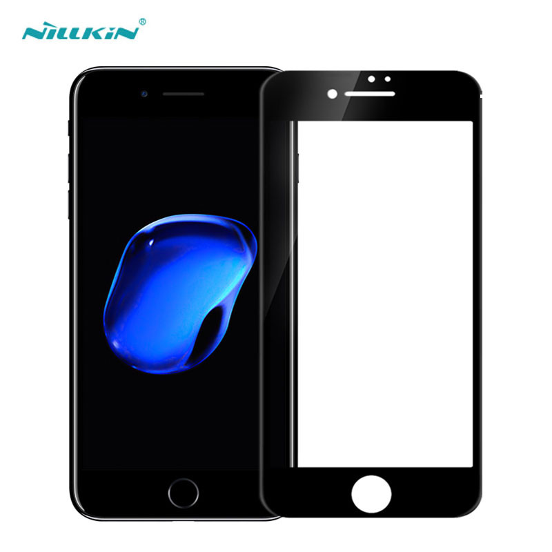 Nillkin Screen Protector Tempered Glass For iPhone 7 8 Plus 3D CP+ Max Full Cover sfor iPhone 8 Plus Glass-in Phone Screen Protectors from Cellphones & Telecommunications