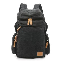 2016 new man backpack man fashion canvas bag student bag travel backpack