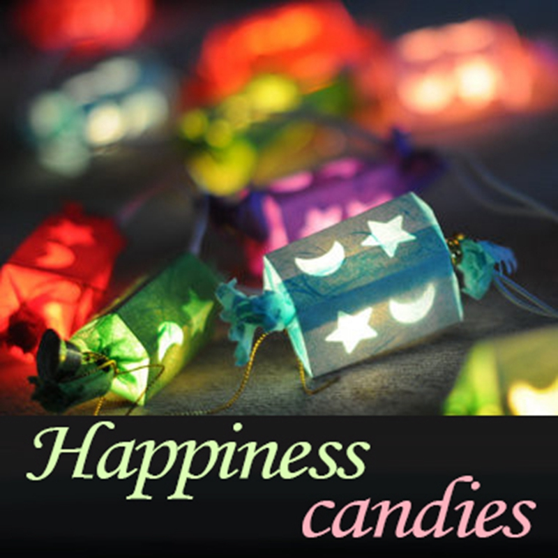 Thailand Candy Paper Lamp White Plastic Box Packaging Baby Gift Children Sleep A Night Light Room