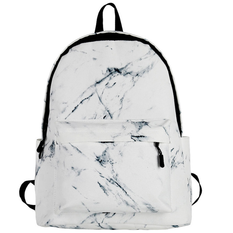 BENVICHED Women Canvas Backpack For Teenagers Girls Large Capacity Bags Marbling Backpacks Female Rucksack School Bag D65