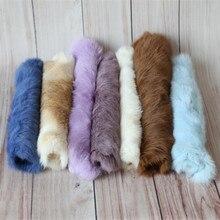 Детское одеяло для фотосъемки; корзина из натурального меха; наполнитель для новорожденных; винтажное мини-одеяло из натурального кроличьего меха; фон для позирования