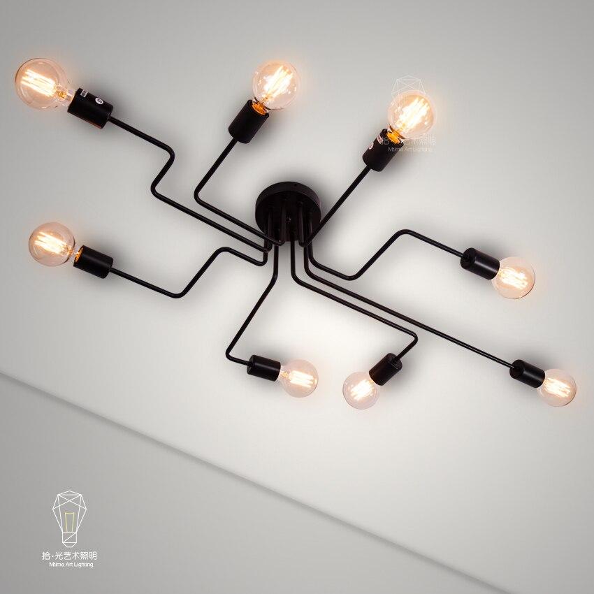 Industrial Hanging Spider ceiling Lamp Modern Lighting, Adjustable Loft Light for Living Room Shop