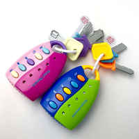 Children's simulation remote control car key lock toy lighting combination music baby early education educational toys