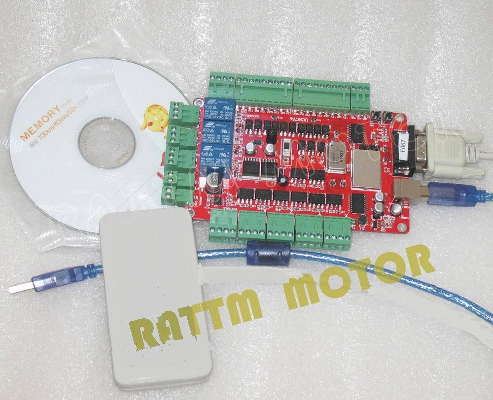 Nouveaux produits!!! 4 axes USBCNC sfe pour CNC Machine stepper motor controller pilote sans contrôleur de la main