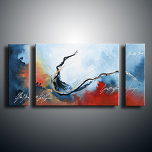 Hand Painted Abstract Wave Acrylic Paintings Graffiti Seascape Oil Painting Home Decor Wall Art 3 Panel Pictures