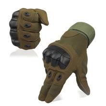 Мужские Военная Униформа Тактический Полный пальцев Прихватки для мангала жесткий перчатки с защитой суставов стрельба, страйкбол мотоцикл открытый